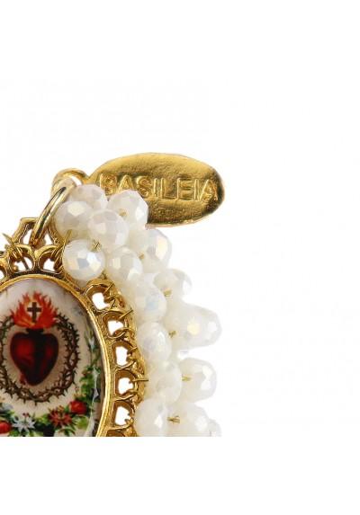 Medalla religiosa mediana bordada Sagrado Corazón Basileia