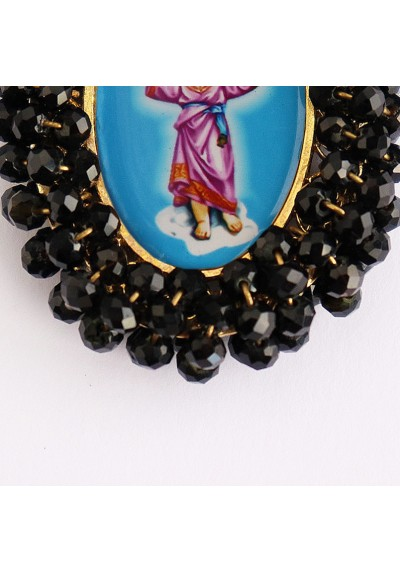 Medalla religiosa bordada doble cara Ángel de la Guarda - Niño Jesús Basileia