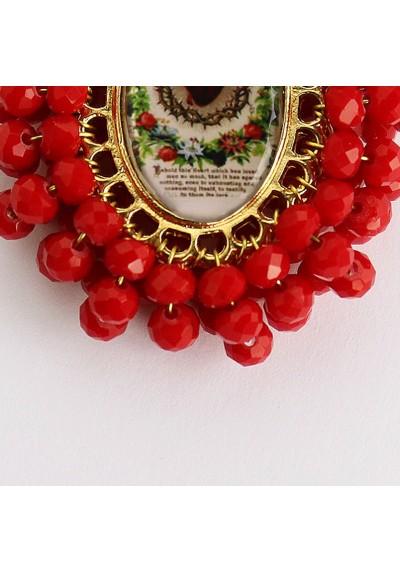 Medalla religiosa bordada Sagrado Corazón Basileia