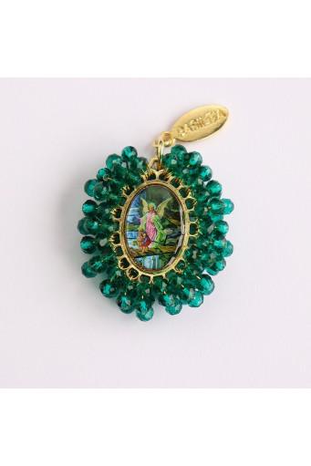 Medalla religiosa mediana bordada Ángel de la Guarda Basileia