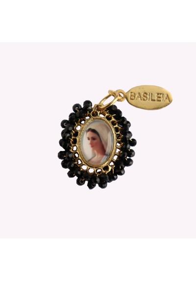 Medalla religiosa pequeña bordada Virgen Medjugorje Basileia