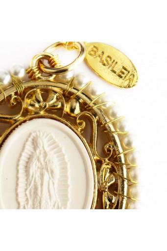 Medalla religiosa XL Virgen de Guadalupe perlas - Basileia