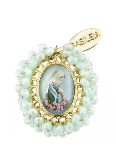 Medalla religiosa pequeña Virgen Rosas - Basileia