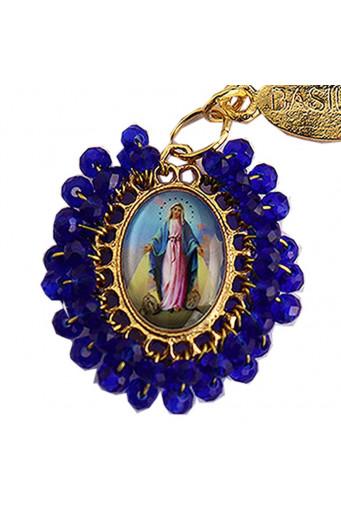 Medalla religiosa pequeña bordada Virgen Milagrosa - Basileia