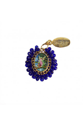 Medalla religiosa pequeña bordada Ángel de la Guarda - Basileia