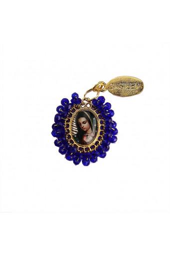 Medalla religiosa pequeña bordada Virgen de Guadalupe - Basileia