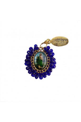 Medalla religiosa pequeña bordada San Judas Tadeo - Basileia