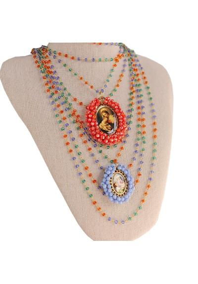 Cadena rosario tres colores Basileia