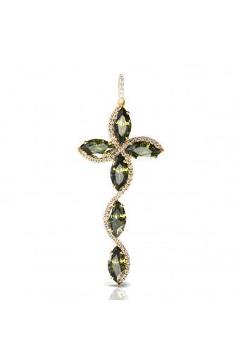 Cruz de piedras verde Nerea Basileia