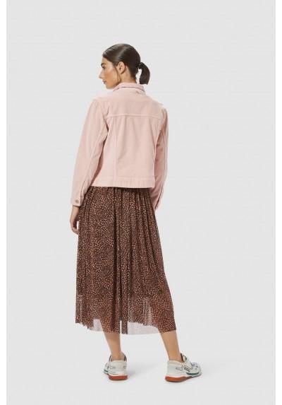 Vestido mesh print leopardo Rich & Royal - BASILEIA