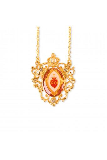 Collar Sagrado Corazón corona Basileia