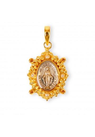Medalla Virgen Milagrosa circonitas ámbar Basileia - EDICIÓN LIMITADA