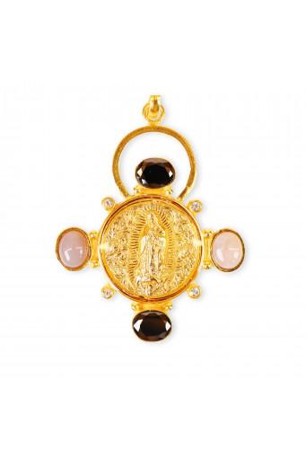 Medalla Virgen de Guadalupe 4 piedras Basileia