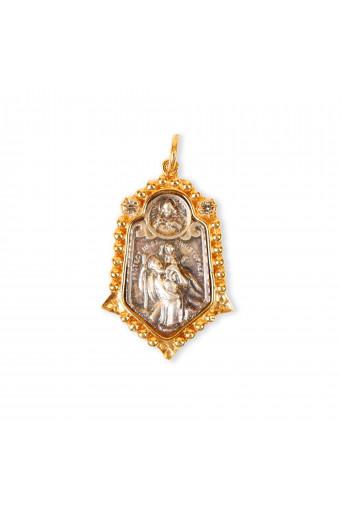Medalla San Cristobal bicolor pequeña Basileia