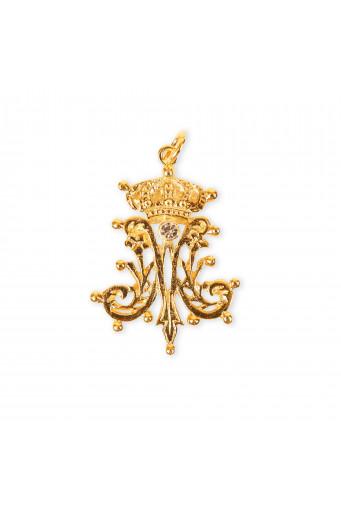 Medalla Ave María anagrama Basileia