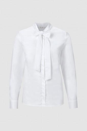Blusa blaca lazo Rich & Royal - BASILEIA