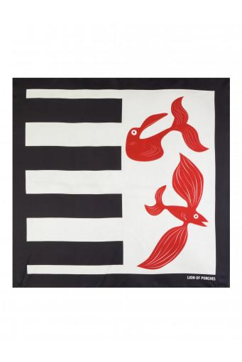 Pañuelo de seda marinero peces Lion of Porches - Basileia