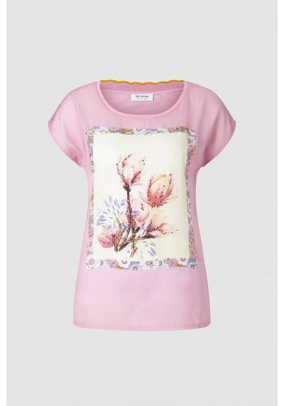 Camiseta Floral rosa Rich and Royal - Basileia