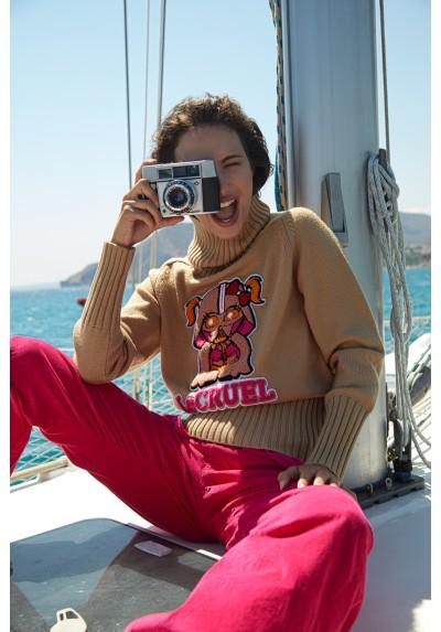 Jersey cámel I am your mother Le Cruel - Basileia