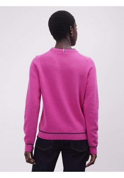 Jersey de cuello redondo de 100% lana Lion of Porches - Basileia